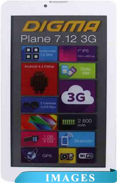 Digma Plane 7.12 8GB 3G White